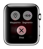 Mark waypoints, start new track segments or stop recording without touching your iPhone.