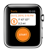 Start recording your next GPS adventure from your Apple Watch.
