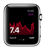See live sparkline graphs for speed, pace, altitude and more right from your wrist.
